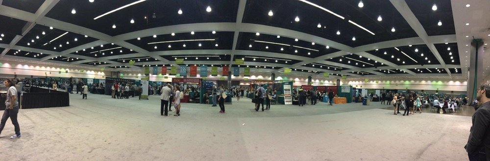 The book fair floor at the 2016 AWP Conference in L.A.