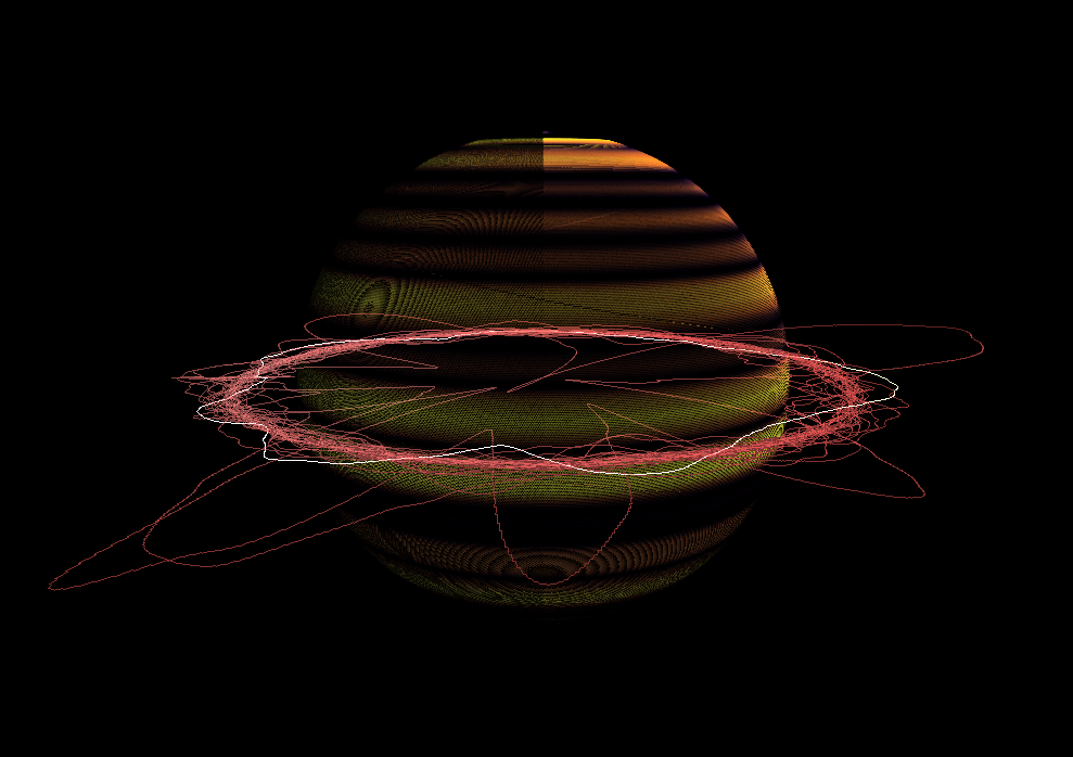 SATURNIA - Saturnia is an audio visualizer implemented in C++ and OpenGL. The video for saturnia shows a narrative of the birth, life, and death of a fictional planetary body with audio. Go here to view the video and full documentation.
