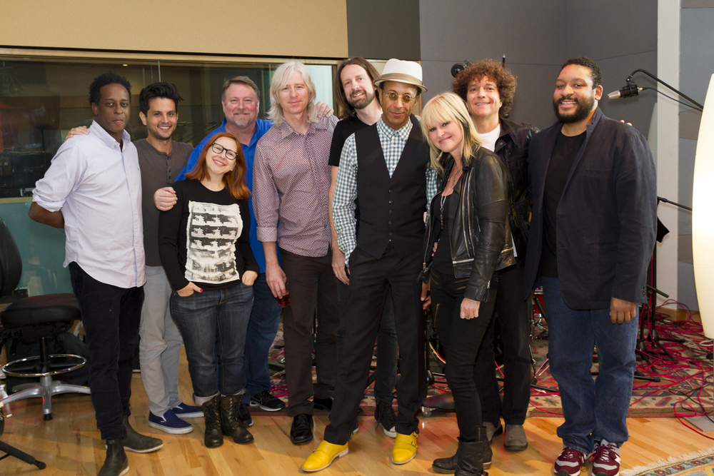 "l-r: Brady Blade (drums), Beau Bonetti (production asst.), Beth Herzhaft (photographer), Roy McClurg (executive producer), Chris ""Doctor"" Roberts (guitar), Chris Bell (engineer), Shawn Amos, Mindi Abair, Anthony Marinelli (keys), Chris Thomas (bass)"