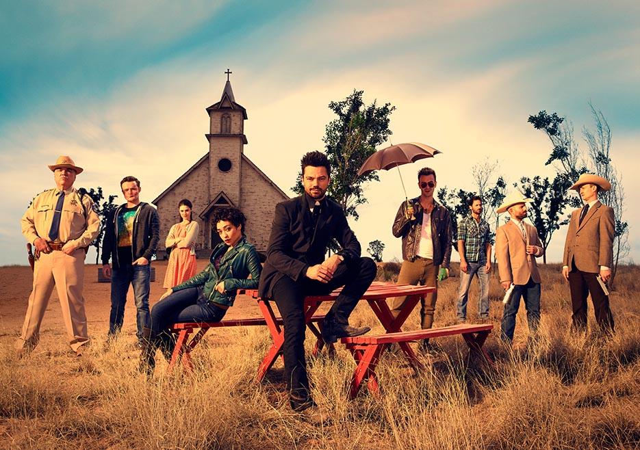 The cast of AMC series Preacher (courtesy AMC)