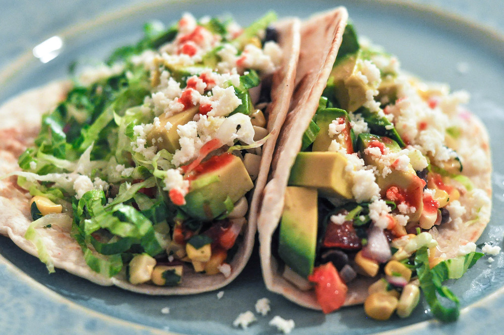 Black Bean Tacos with Corn Salsa | O&O Eats