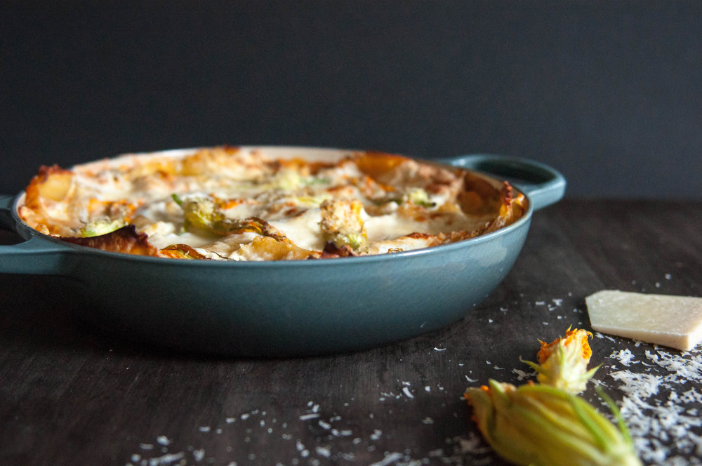 Spring Vegetable Lasagna with Heirloom Tomato Béchamel | O&O Eats