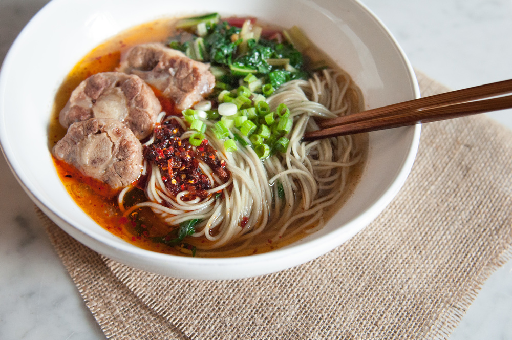 Beef Noodle Soup with Oxtail & Chard — O&O Eats