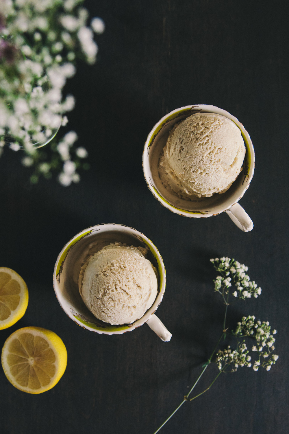 Earl Grey Ice Cream with a Hint of Lemon | O&O Eats
