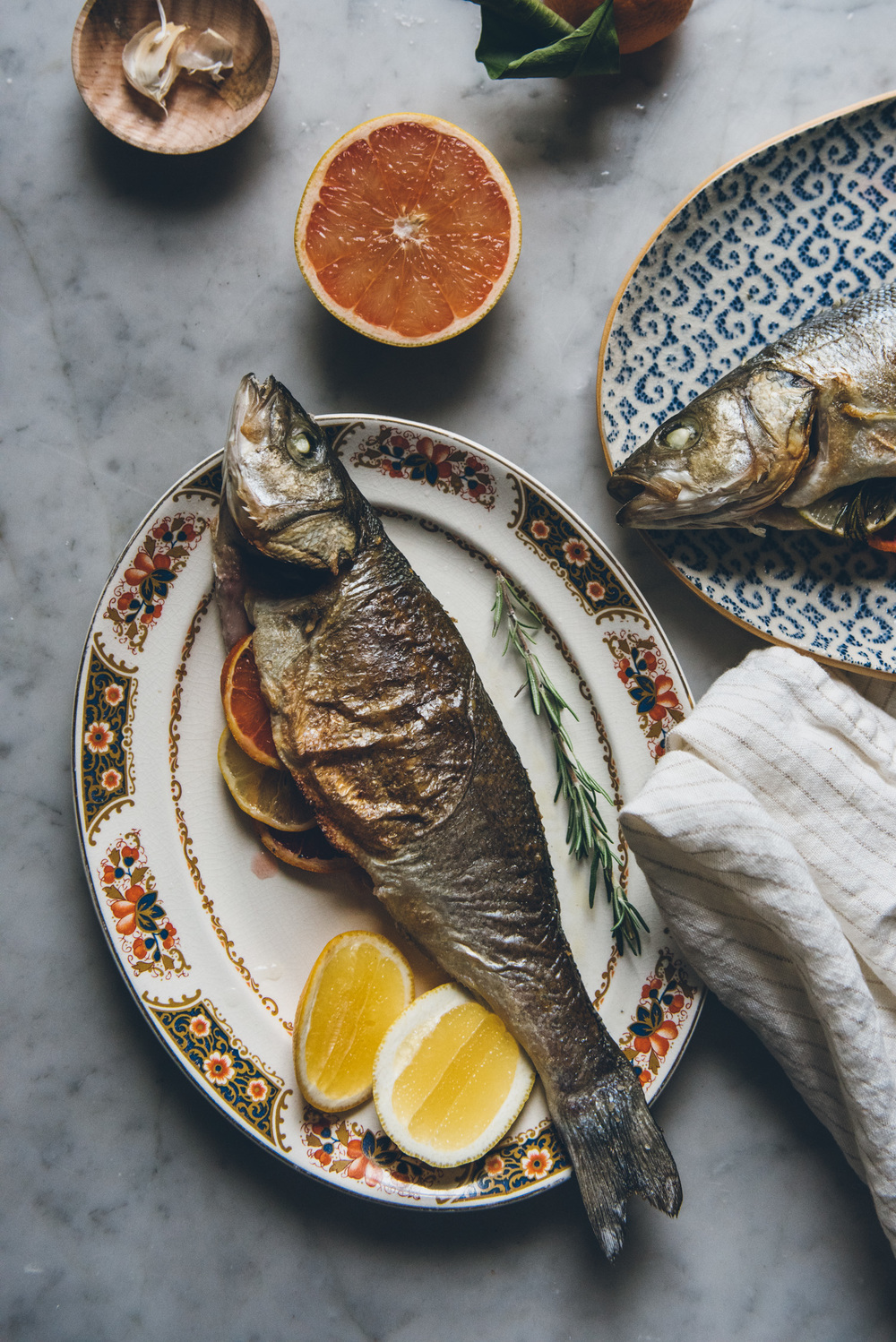 Citrus Stuffed Whole Roasted Fish | O&O Eats