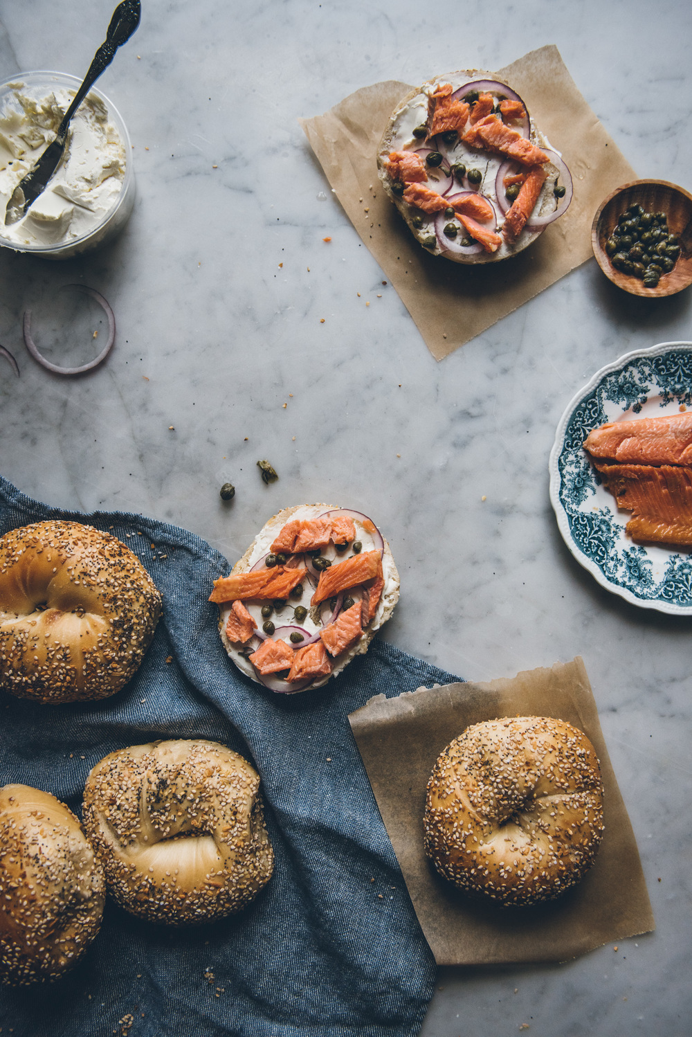 Smoked Trout Bagel | O&O Eats