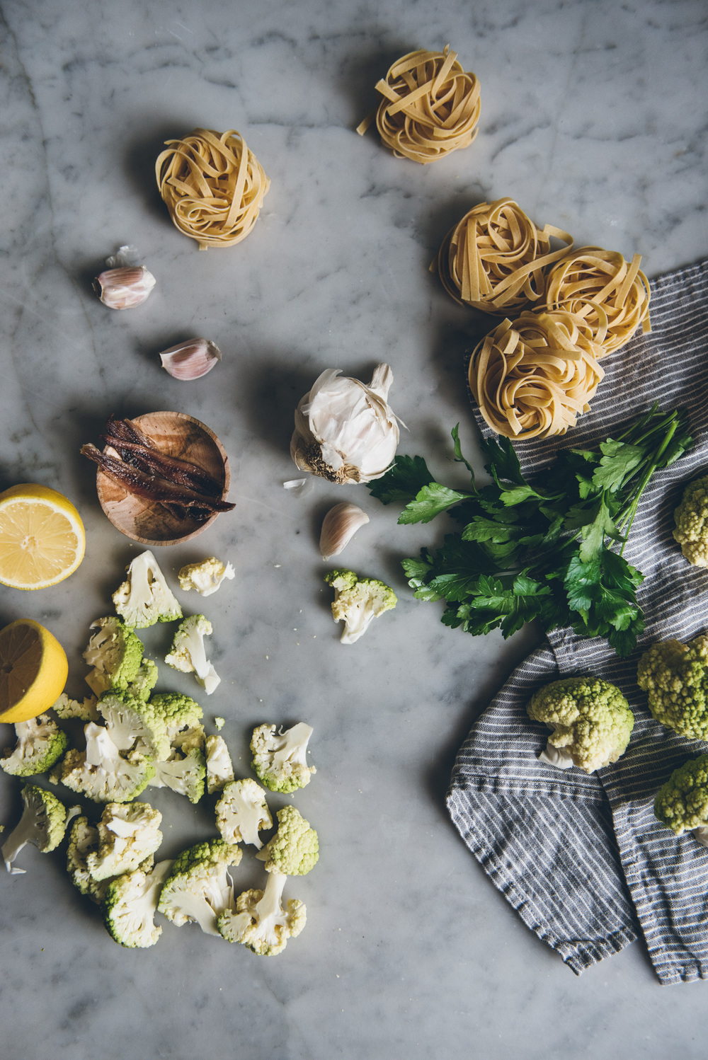 Tagliatelle with Roasted Cauliflower | O&O Eats