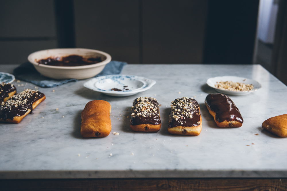 Chocolate Hazelnut Long Johns | O&O Eats