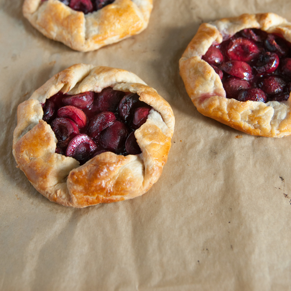 Cherry Galettes, Personal Sized