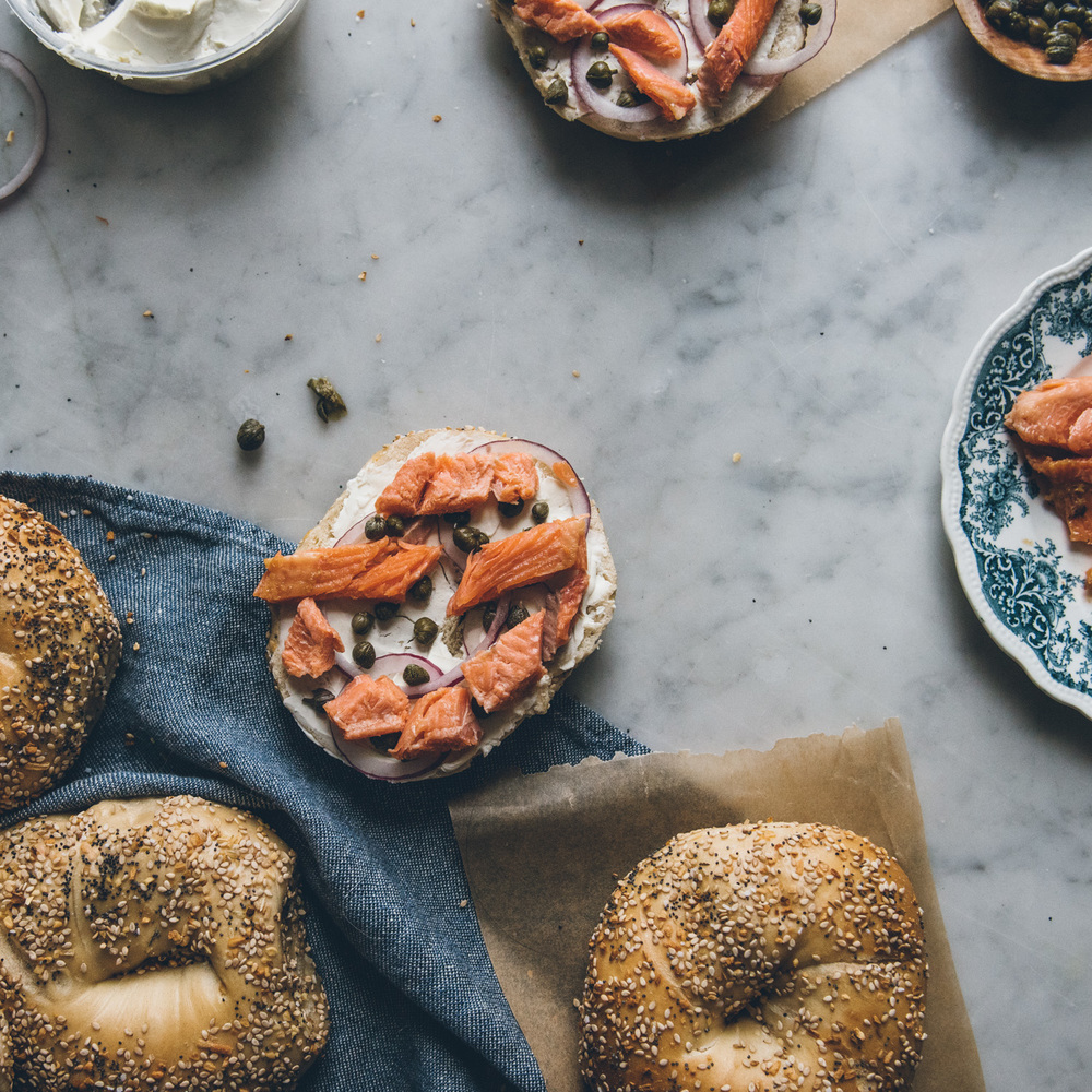 Smoked Trout Bagel