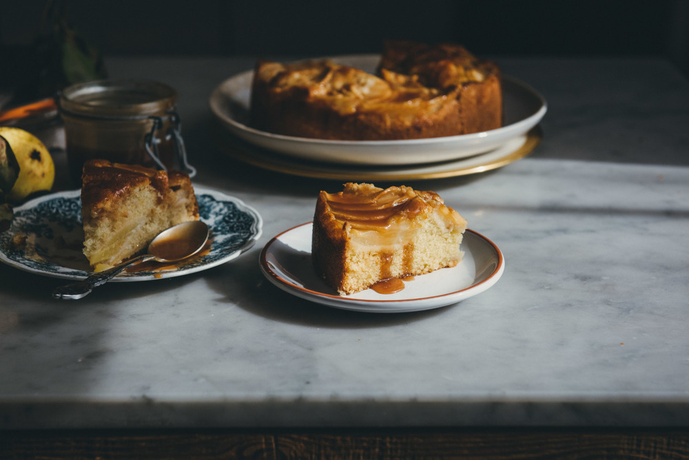 Pear Cake with Salted Caramel