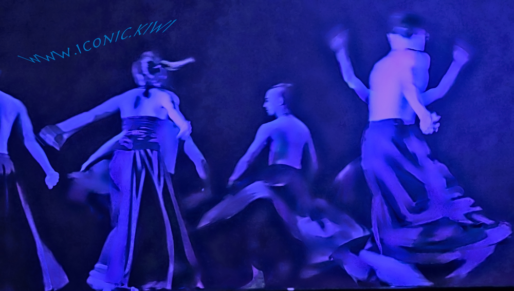 Image created from a photograph taken at the 2015 Tiki Taane Mahuta Aerial Contemporary Dance show