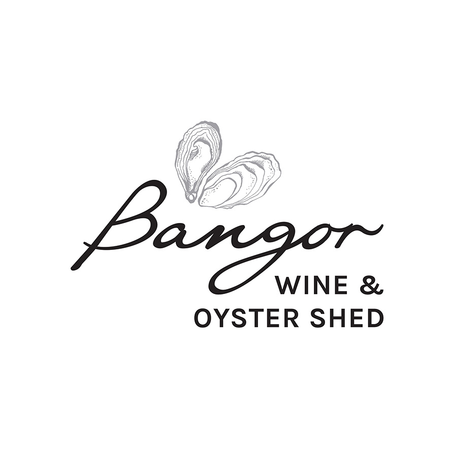Bangor Wine & Oyster Shed   Logo design and oyster illustration for the Bangor Wine & Oyster Shed, Dunalley. Completed in collaboration with Sarah Owen Design.