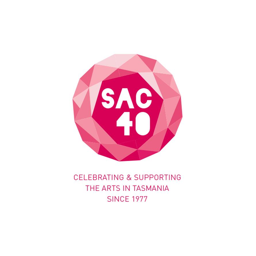 SAC 40   Logo for Salamanca Arts Centre's 40th anniversary in 2017.