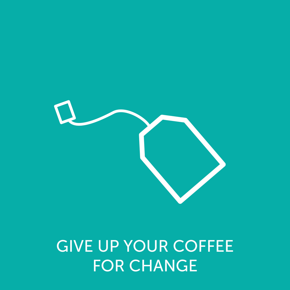 Take the plunge this October and give up your coffee for someone who needs it more. Click through for more details.