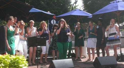 Treble NYC sings at U.S. Open