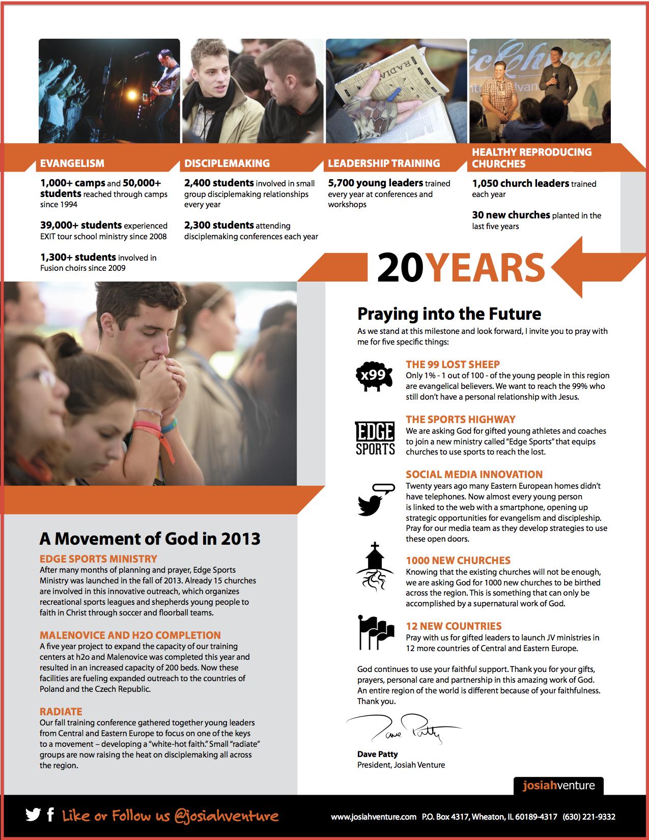 Josiah Venture 2013 Annual Report PAge 2