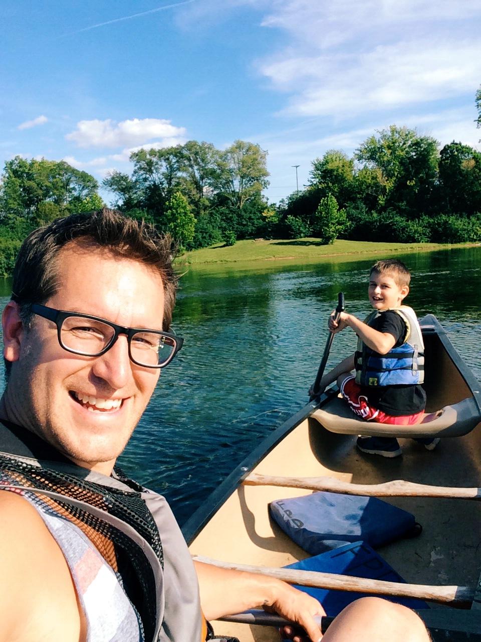 We were working on Eli's paddling skills