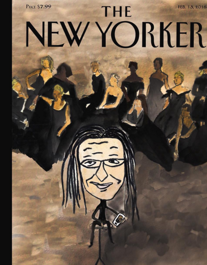"The idea of mass amateurism is extremely prevalent in our creative world today, specifically most noticeable throughout the art of photography. Our ability to self publish has called into question the definition of ""professional"" and ""credible."" // Mock cover for The New Yorker of Annie Leibovitz's shoot for Vanity Fair, 2016"