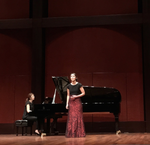 In Recital!  On February 15th, 2017 Chelsea performed a recital of all Scando-Slavic repertoire in CCM's Werner Recital Hall, including the rarely performed Grieg masterpiece,  Haugtussa.