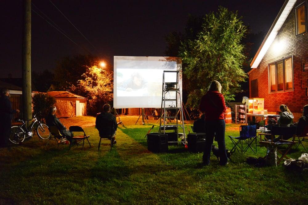 Ride'n Movies: vacant lot installation Photo credit: Alex Tsocanos
