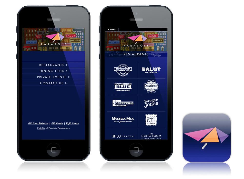 parasole restaurant s mobile sites joe aliotto design