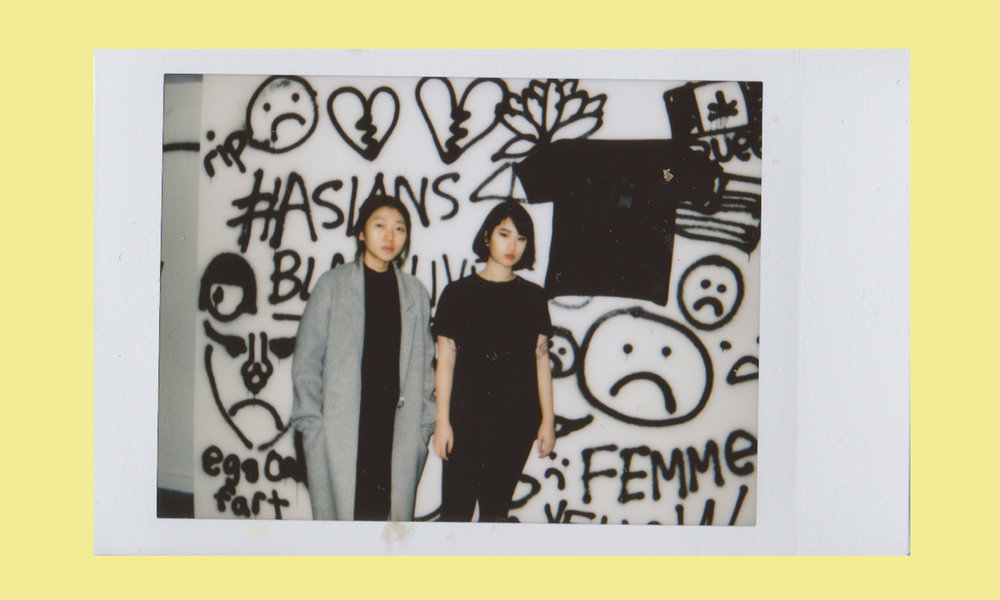 Olivia Park and Esther Fan are founders of Sad Asian Girls, - an alias used to produce activist art projects that revolve around experiences living in Western environments as East-Asian girls.