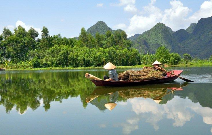 Vietnam river boat