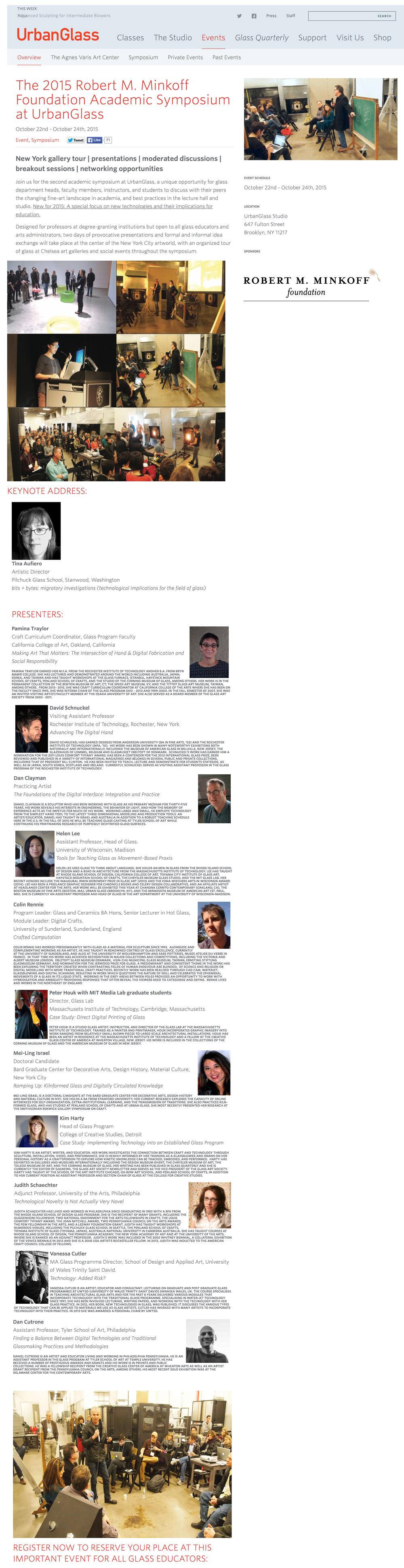 2015 Minkoff Foundation Academic Symposium
