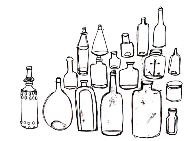 Vintage Bottles as seen in Seasons 6 & 7  of the television show Mad Men