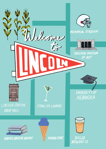 Map of Lincoln, NE