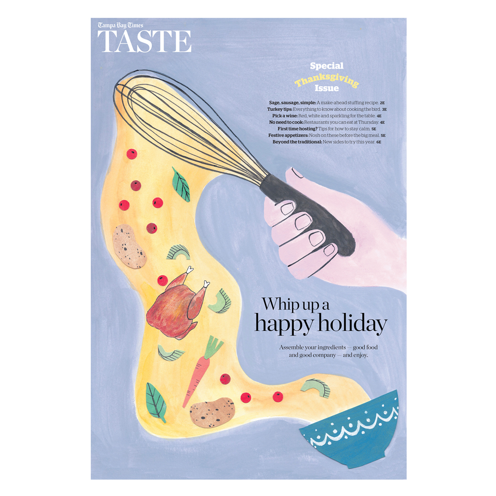 Cover Illustration for Tampa Bay Times:  Taste Thanksgiving edition