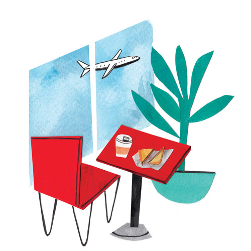 Eating at the Airport for The Local Palate's March 2018 Issue