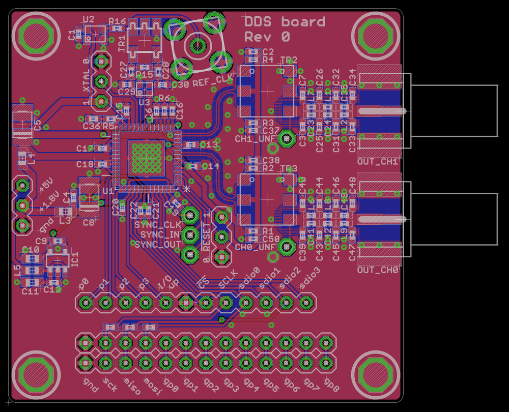 RF transmitter board - layout