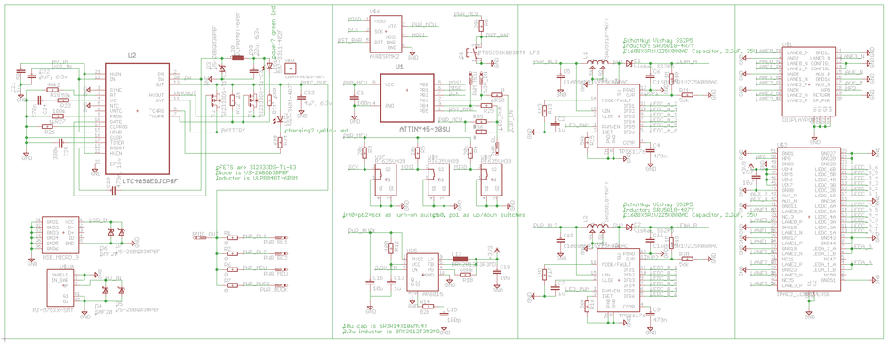 Retina iPad interface board, attempt #1 - schematic.