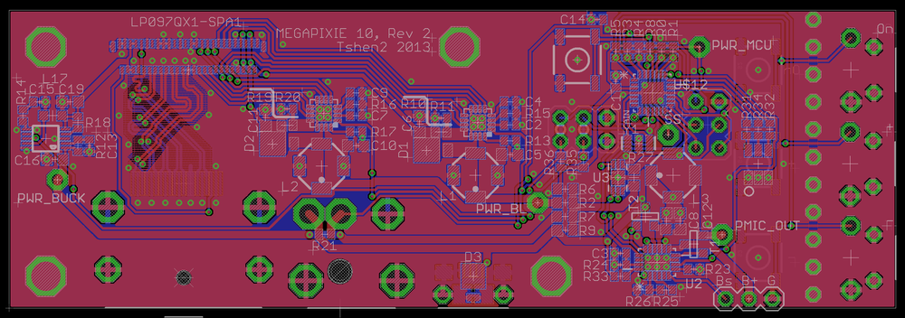 Retina iPad interface board, attempt #2   - layout.
