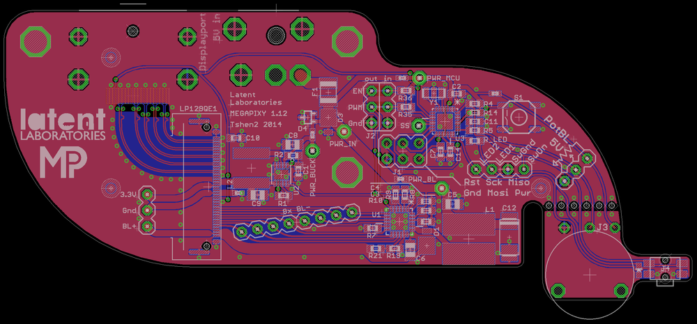 layout of Giger board.