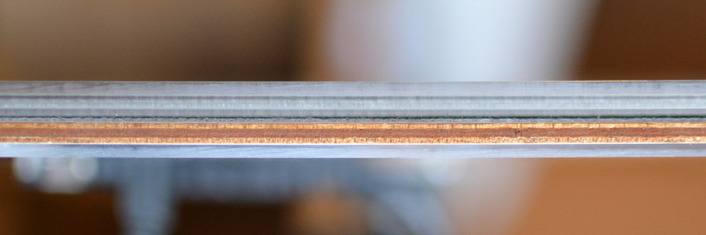 side profile: acrylic acrylic acrylic wood acrylic