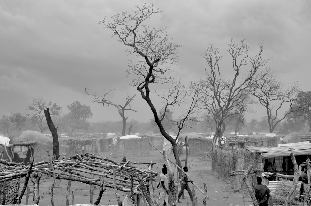 It is about to rain in Yida, South Sudan's largest refugee camp, 2014. Photo by Jérôme Tubiana.