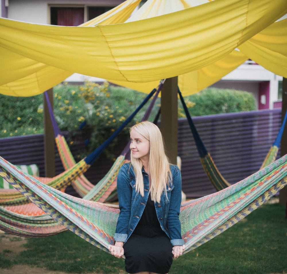 Hammocks! Brilliant for working or playing.