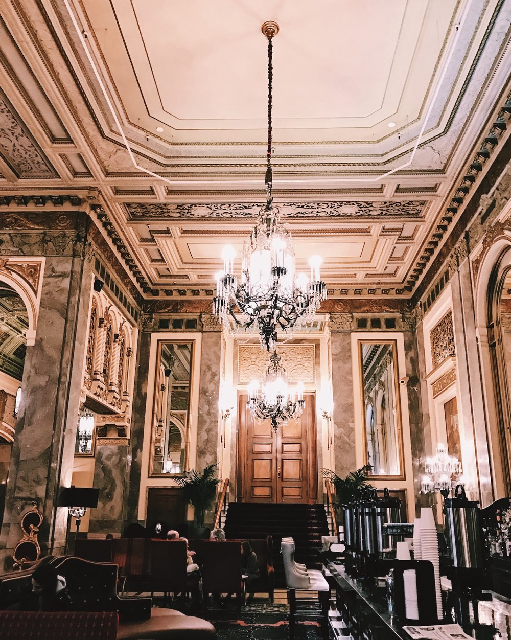 The lobby is oh-so grand and they offer free organic tea and coffee in the morning. #perks