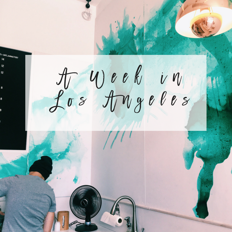 a week in los angeles