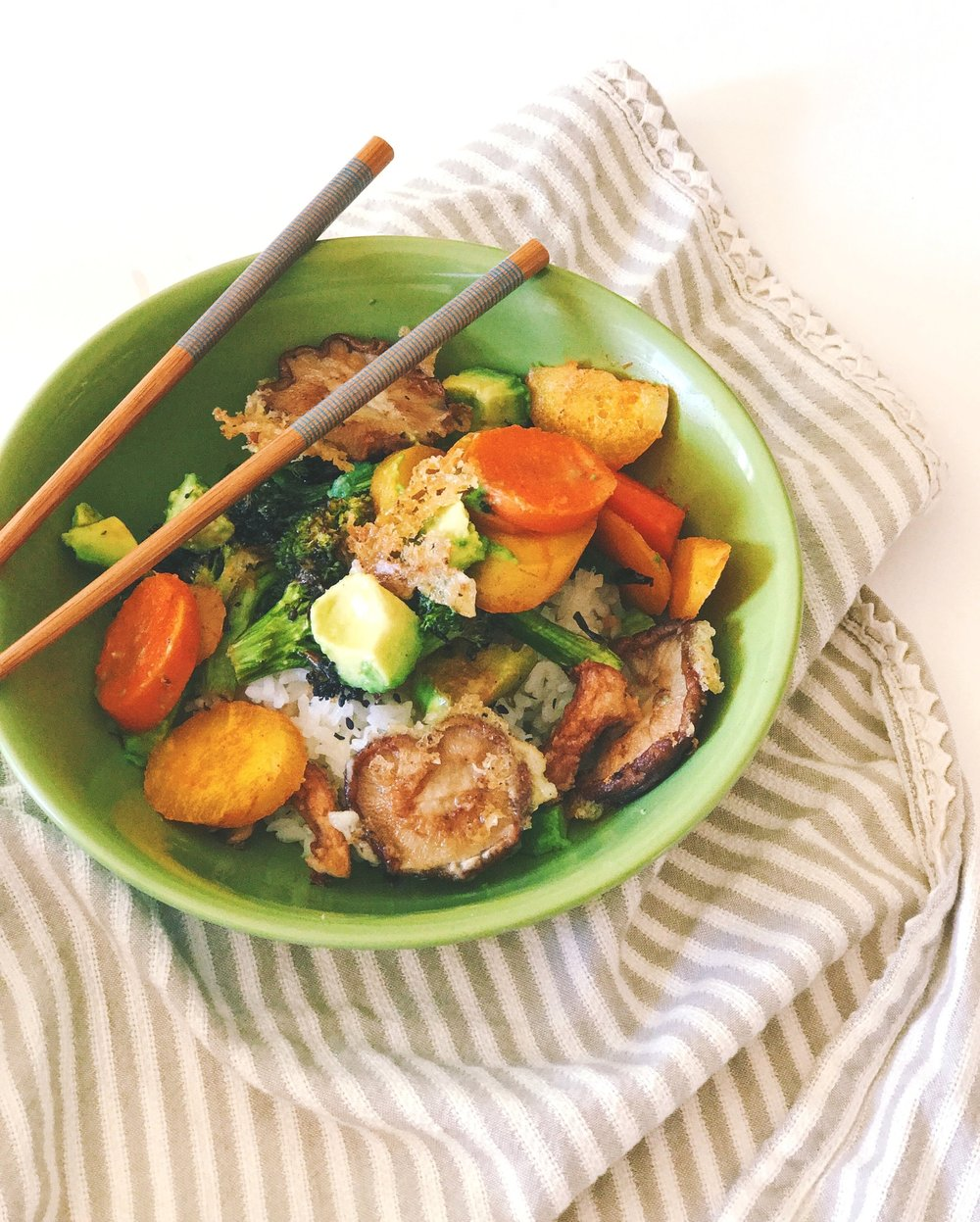 chimchurri rice bowls blue apron