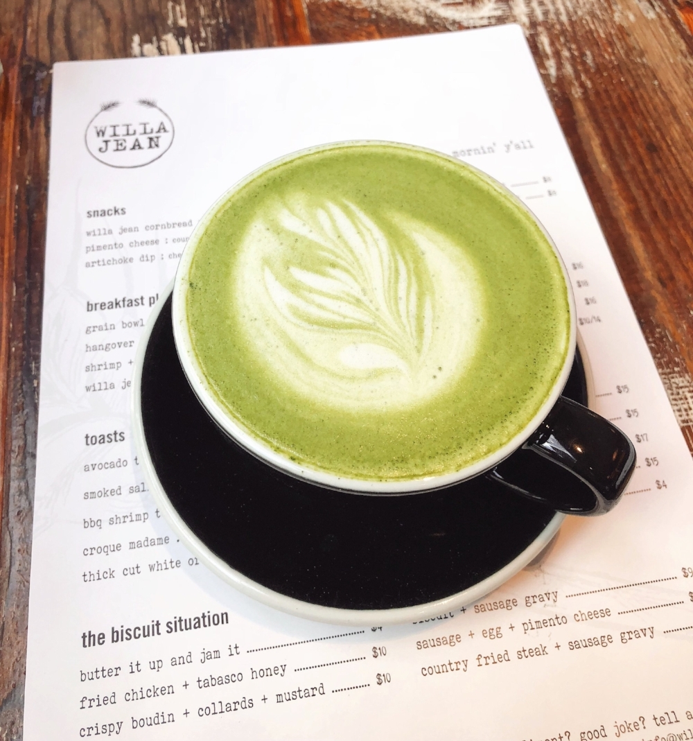 matcha latte - willa jean
