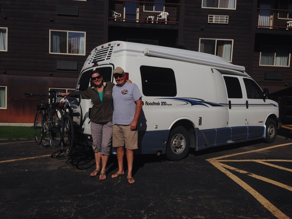 Ann and Ken and their awesome RV