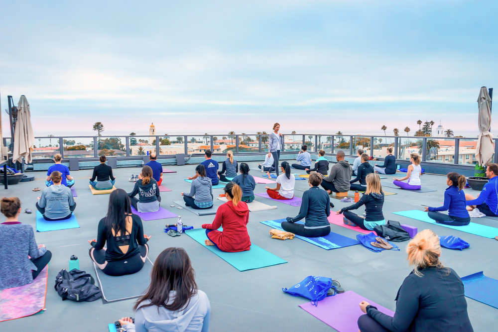Rooftop Yoga Class