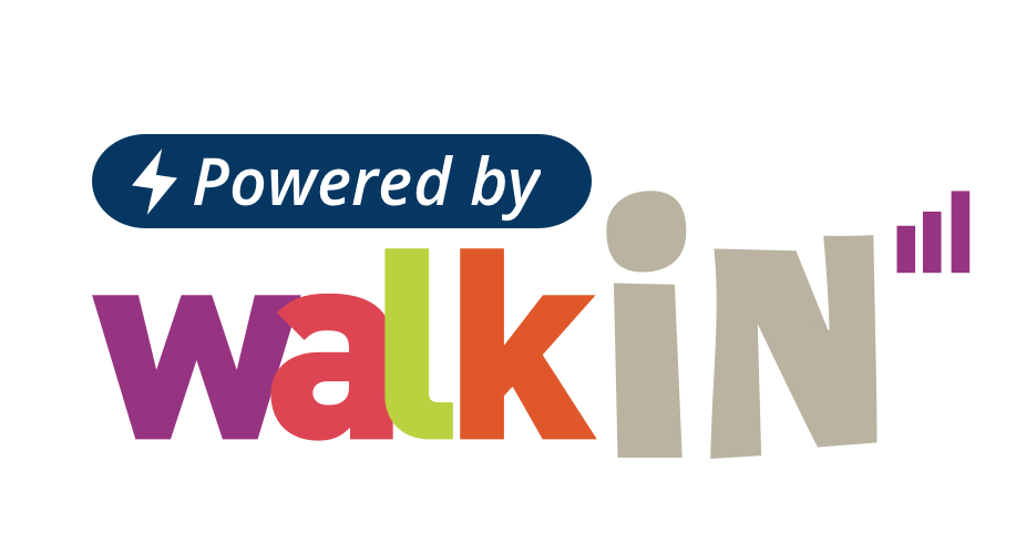 "Click to learn more about our solution called ""Powered by Walkin"""