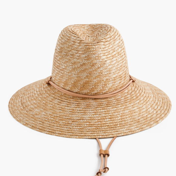 J crew wide brim hat with leather trim $55.00