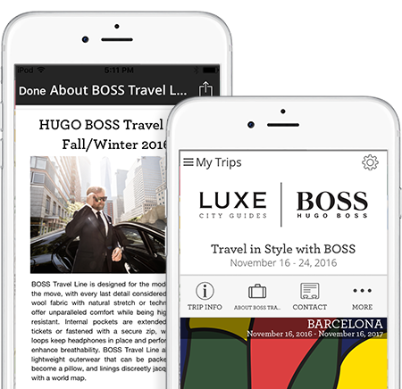 LUXE digital guide created exclusively for Hugo Boss