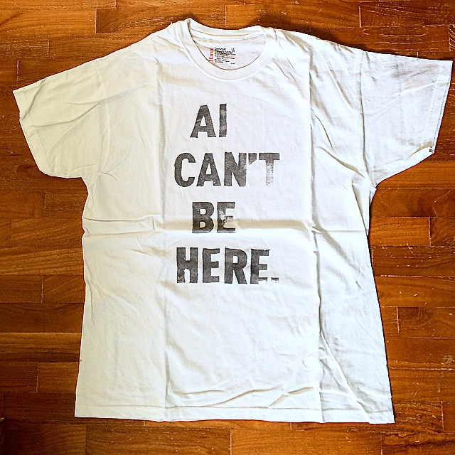 AI CAN'T BE HERE.